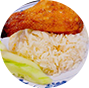 Roasted Chicken Drumstick Rice