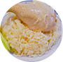 Steamed Chicken Drumstick Rice