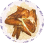 Roasted Chicken Wing Rice